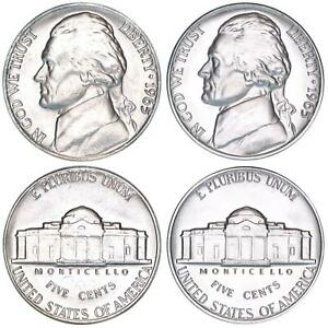 1965 JEFFERSON NICKEL YEAR SPECIAL MINT SET SMS & BU US 2 COIN LOT