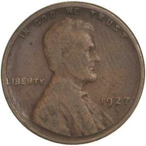 1927 S LINCOLN WHEAT CENT GOOD PENNY GD