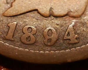 1894/94 1C INDIAN HEAD SMALL CENT   DOUBLE DATE RPD   GOOD  SKU B1237