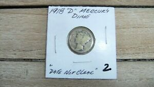 1918 D MERCURY DIME. A NICE COIN. 103 YEARS OLD  2