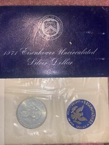 1971 S  EISENHOWER UNCIRCULATED SILVER DOLLAR IN OGP
