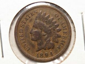 1894 INDIAN CENT VG/F