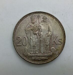Click now to see the BUY IT NOW Price! SLOVAKIA 1941 20 KORUN SILVER NICELY TONED OVER LUSTROUS SURFACES WWII COIN