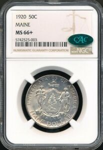 Click now to see the BUY IT NOW Price! 1920 MAINE COMMEMORATIVE HALF DOLLAR NGC MS 66   CAC APPROVED