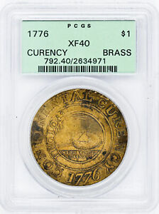 Click now to see the BUY IT NOW Price! 1776 CURENCY BRASS $1 PCGS XF 40