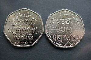 250P.COIN 2020 DIVERSITY BUILT BRITAIN&BREXIT UNCIRCULATED FROM SEALED BAG 2020