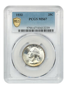 Click now to see the BUY IT NOW Price! 1932 25C PCGS MS67   REGISTRY QUALITY   WASHINGTON QUARTER   REGISTRY QUALITY