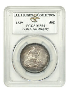 Click now to see the BUY IT NOW Price! 1839 50C PCGS MS64  NO DRAPERY  EX: D.L. HANSEN    ISSUE    ISSUE