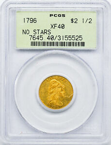 Click now to see the BUY IT NOW Price! 1796 DRAPED BUST $2.5 PCGS XF 40