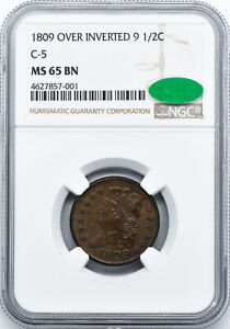 Click now to see the BUY IT NOW Price! 1809/6 CLASSIC HEAD 1/2C NGC MS 65 BN