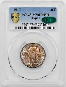 Click now to see the BUY IT NOW Price! 1917 STANDING LIBERTY 25C PCGS MS 67  FH
