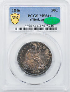 Click now to see the BUY IT NOW Price! 1846 LIBERTY SEATED 50C PCGS MS 64