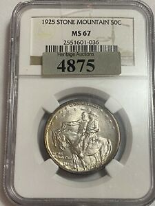 Click now to see the BUY IT NOW Price! 1925 STONE MOUNTAIN SILVER HALF DOLLAR MS 67 NGC CERTIFIED GEM  WOW MEMORIAL 50C