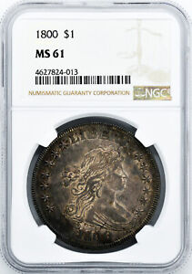 Click now to see the BUY IT NOW Price! 1800 DRAPED BUST $1 NGC MS 61