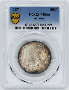 Click now to see the BUY IT NOW Price! 1874 LIBERTY SEATED 50C PCGS MS 66