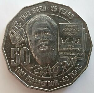 AUSTRALIA 2017 FIFTY CENTS COINS   MABO AND 1967 REFERENDUM