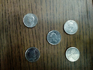 CANADA COIN LOT OF 5 CENTS 5 PIECES  B1204