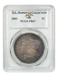 Click now to see the BUY IT NOW Price! 1883 $1 PCGS PR 67 EX: D.L. HANSEN   BEAUTIFUL TONING   MORGAN SILVER DOLLAR