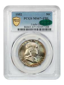 Click now to see the BUY IT NOW Price! 1952 50C PCGS/CAC MS67  FBL EX: LINDA GAIL   FRANKLIN HALF DOLLAR