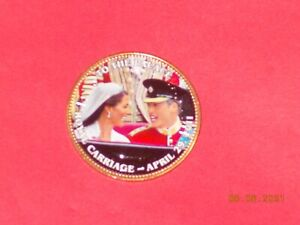 BRITISH LARGE PENNY WILLIAM & KATE   TO THE PALACE   ROYAL CARRIAGE