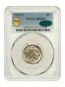 Click now to see the BUY IT NOW Price! 1925 S 5C PCGS/CAC MS65    BUFFALO NICKEL    DATE