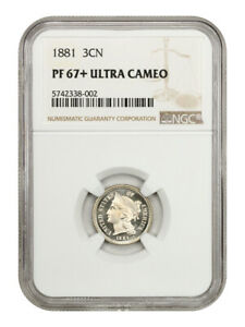 Click now to see the BUY IT NOW Price! 1881 3CN NGC PR 67  UCAM   3 CENT NICKEL   BEAUTIFUL  DEEP CAMEO
