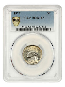 Click now to see the BUY IT NOW Price! 1972 5C PCGS MS67 FS   TIED FOR FINEST KNOWN   JEFFERSON NICKEL