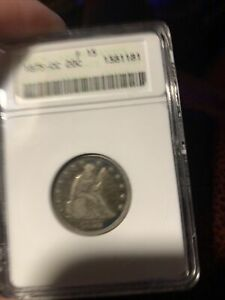 1875 CC ANACS  F15 LIBERTY SEATED 20 CENT PIECE 20C   OLD SMALL HOLDER