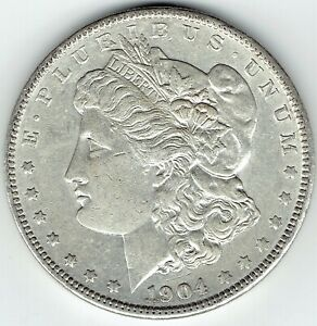 1904 P $1 MORGAN SILVER DOLLAR UNDERRATED DATE LOTS OF DETAIL