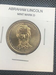 2010 D ABRAHAM LINCOLN PRESIDENTIAL DOLLAR  BU FROM US MINT ROLL