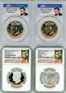 Click now to see the BUY IT NOW Price! 2014 KENNEDY 50TH ANNIVERSARY   NGC REGISTRY 1 SET   COMPLETE   7 COINS   ER