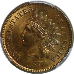 Click now to see the BUY IT NOW Price! 1877 INDIAN CENT PCGS MS66RB GEM KEY DATE AMONG TOP 10 IN THE POPULATION CENSUS