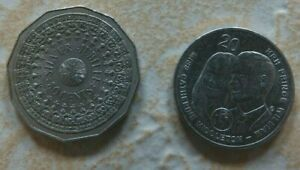 AUSTRALIA 1977 50 CENT SILVER JUBILEE COIN / 2011 20C KATE WILLIAM ROYAL WEDDING