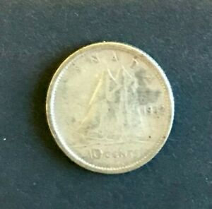 CANADA 10 CENTS 1942 SILVER NICE COIN