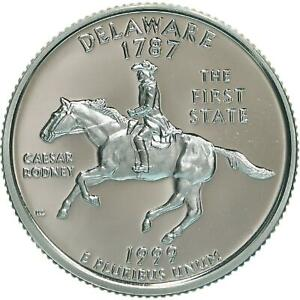1999 S STATE QUARTER DELAWARE GEM PROOF DEEP CAMEO CN CLAD COIN