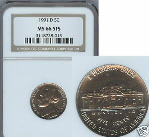 Click now to see the BUY IT NOW Price! 1991 D JEFFERSON NICKEL NGC MS 66 FIVE FS REGISTRY