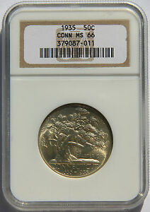 Click now to see the BUY IT NOW Price! 50 CONNECTICUT 1935 NGC MS66 SILVER COMMEMORATIVE