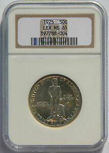 Click now to see the BUY IT NOW Price! 50 LEXINGTON 1925 NGC MS65 SILVER COMMEMORATIVE