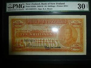 Click now to see the BUY IT NOW Price! NEW ZEALAND LOT P S232B 1926 1932 10 SHILLINGS PMG VF 30 ADD COLLECTION