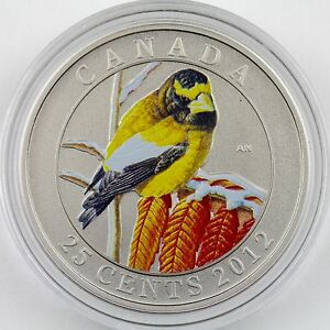 Click now to see the BUY IT NOW Price! 2012 25 CENT EVENING GROSBEAK