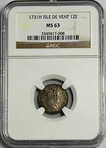 Click now to see the BUY IT NOW Price! WINDWARD ISLANDS  ISLE DE VENT     1731H  12 SOLES  IN NGC  MS 63