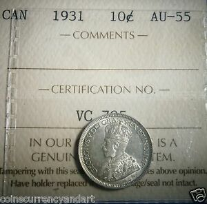 Click now to see the BUY IT NOW Price! 1931  CANADA 10 CENTS NICE  ICCS COIN
