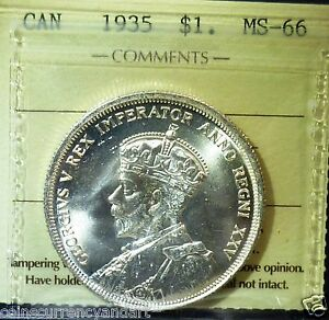 Click now to see the BUY IT NOW Price! HIGH GRADE 66    ICCS  1935  CANADA SILVER DOLLAR