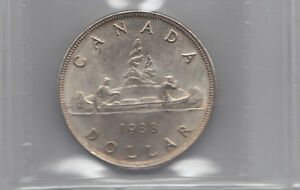 Click now to see the BUY IT NOW Price! 1938 CANADA SILVER $1 DOLLAR   ICCS MS 64