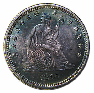 Click now to see the BUY IT NOW Price! 1860 SEATED LIBERTY QUARTER 25 COIN LOT MZ 3745