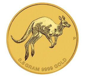 2017 AUSTRALIA MINI ROO $2 0.5 GRAM .9999 PURE GOLD PROOF COIN IN CARD KANGAROO