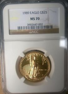 Click now to see the BUY IT NOW Price! 1989 $25 AMERICAN GOLD EAGLE MS70  EAGLE GOLD G$25