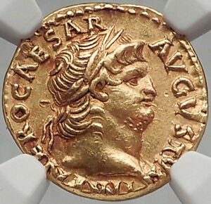 Click now to see the BUY IT NOW Price! NERO 67AD ROME 1910 PEDIGREE AUTHENTIC ANCIENT ROMAN GOLD AUREUS COIN  NGC AU
