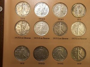 Click now to see the BUY IT NOW Price! COMPLETE HIGH GRADE SET WALKING LIBERTY HALF DOLLARS VF BU
