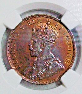 Click now to see the BUY IT NOW Price! 1911 CANADA GEORGE V BRONZE LARGE CENT NGC SPECIMEN 64 RED & BROWN